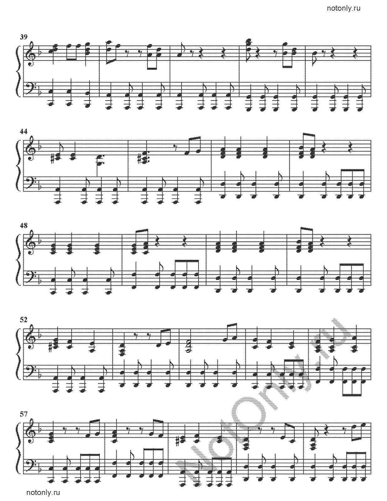 Пираты карибского моря ноты для фортепиано сложная