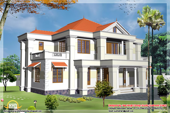 2450 square feet home design elevation