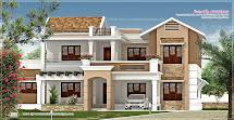 Villa Exterior Design In 3740 Sq.feet - Kerala Home
