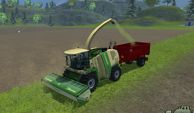 Making chaff from grass with Krone Big X 1000 Forage Harvester