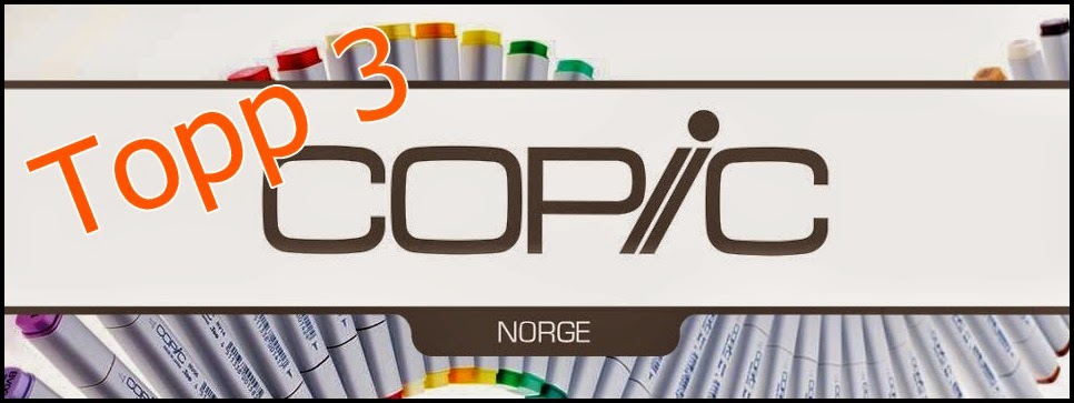 Topp 3 hos CopicMarkerNorge april 2016