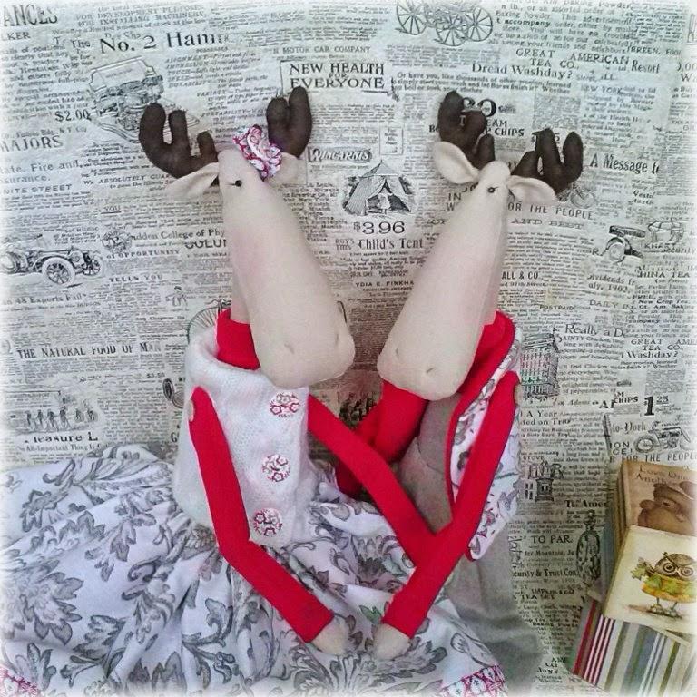 Новый год, лоси, тильда, подарок, что подарить на новый год, текстильная игрушка