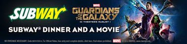 Guardians of the Galaxy ~ #SUBWAYandaMovie