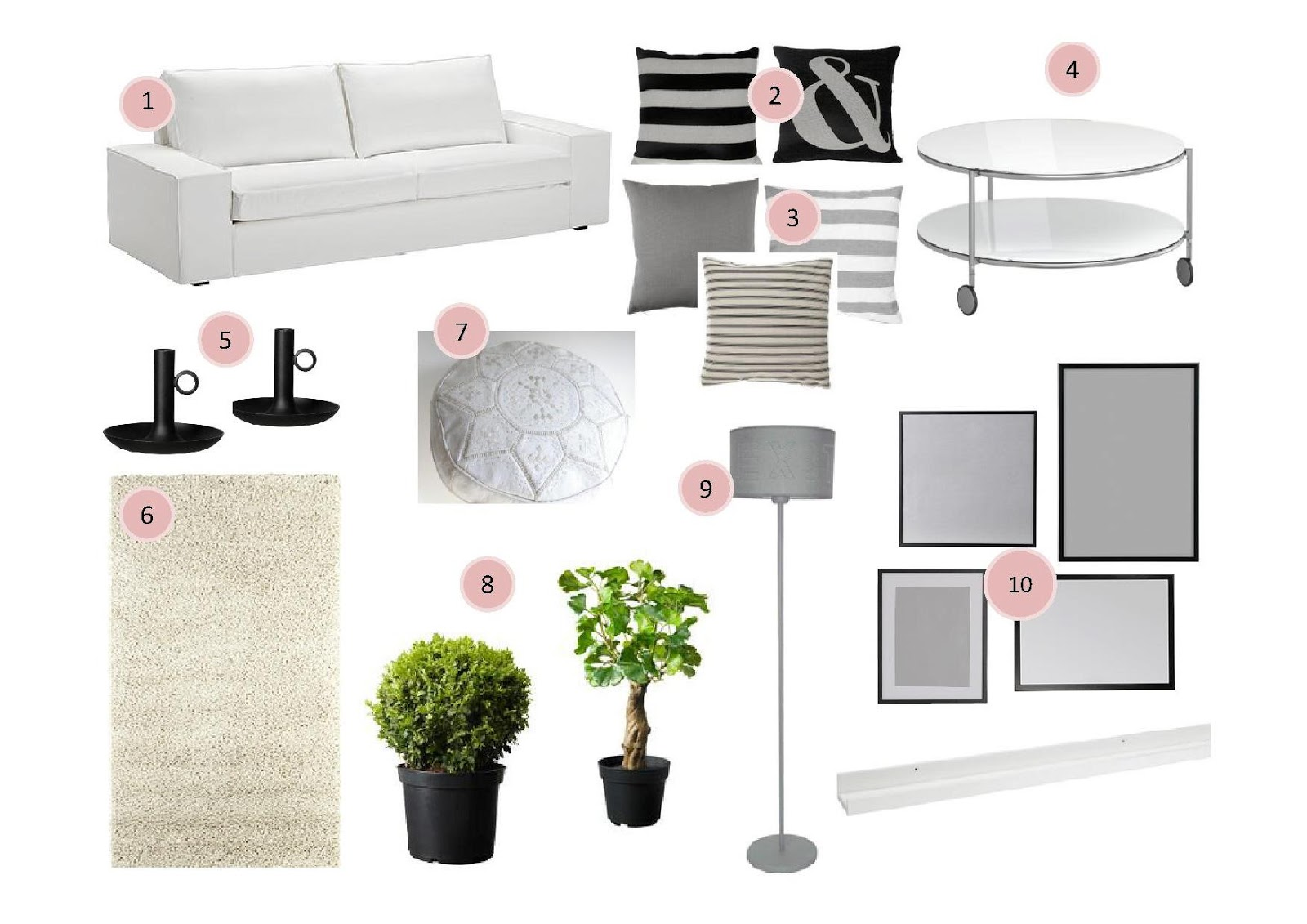 Lo quiero sal n black white la garbatella blog de for Candelabro ikea