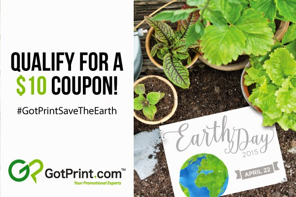 GotPrint Earth Day Win a $10 Coupon Contest