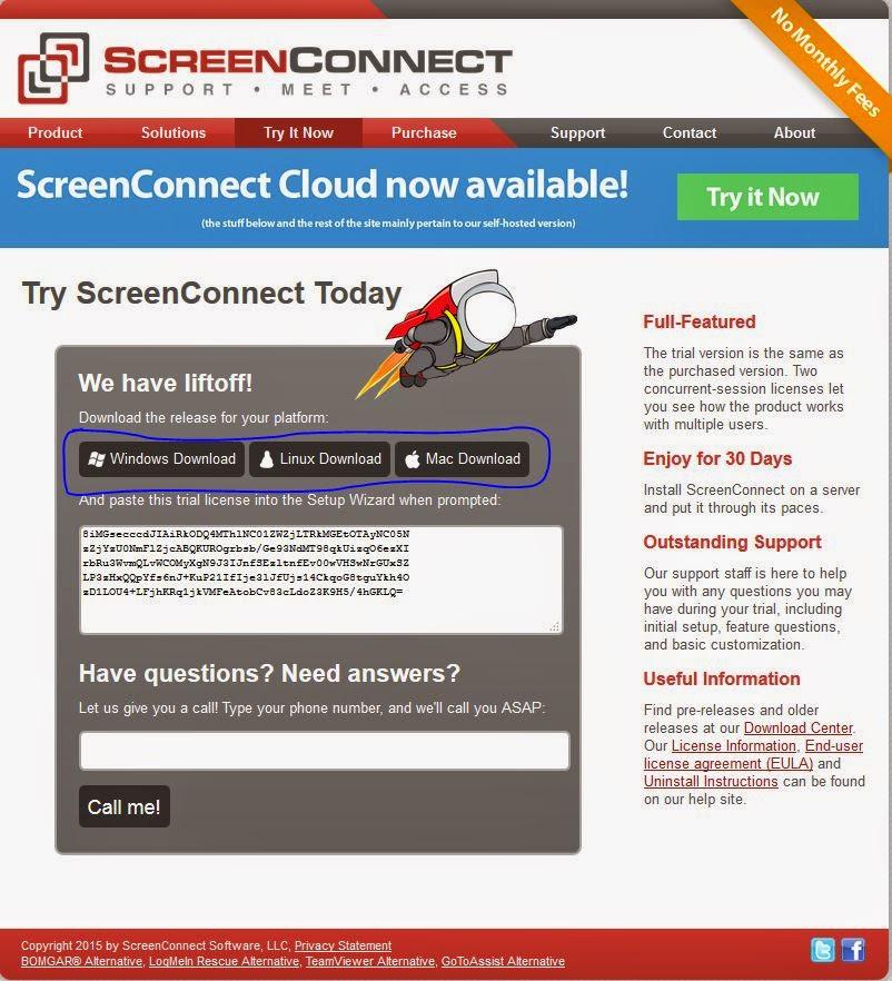 screenconnect linux client