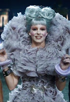 Elizabeth Banks as Effie Trinket in the Hunger Games: Catching Fire movie
