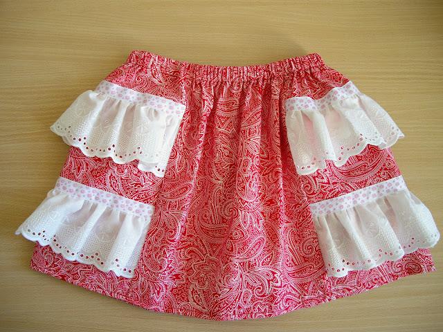 Как сшить юбку для себя и дочки 611