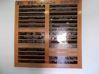 LETRAS FUNDIDAS PARA  DE EDIFÍCIOS COMERCIAIS ESPLANADA CENTER SÃO JOSÉ DOS CAMPOS-SP