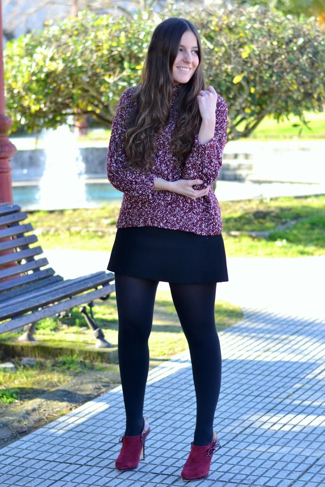 zara black skirt ss15