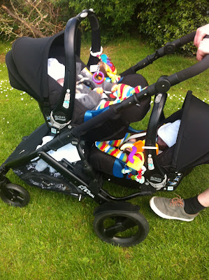 britax b-dual tandem twin buggy car seat pushchair pram buggy review 2012 black thunder