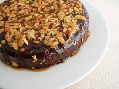 Chocolate Almond Toffee Cake
