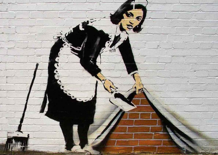 banksy: the worlds most famous graffiti artist essay Find out more about the exploits and possible identity of the mysterious  banksy  began his career as a graffiti artist in the early 1990s,  an example of this is  banksy's version of monet's famous series of water lilies paintings,  including  everyone i have ever slept with 1963-1995, my bed and the.