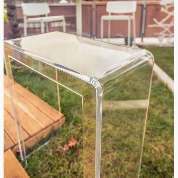 consolle plexiglass trasparente per ingresso