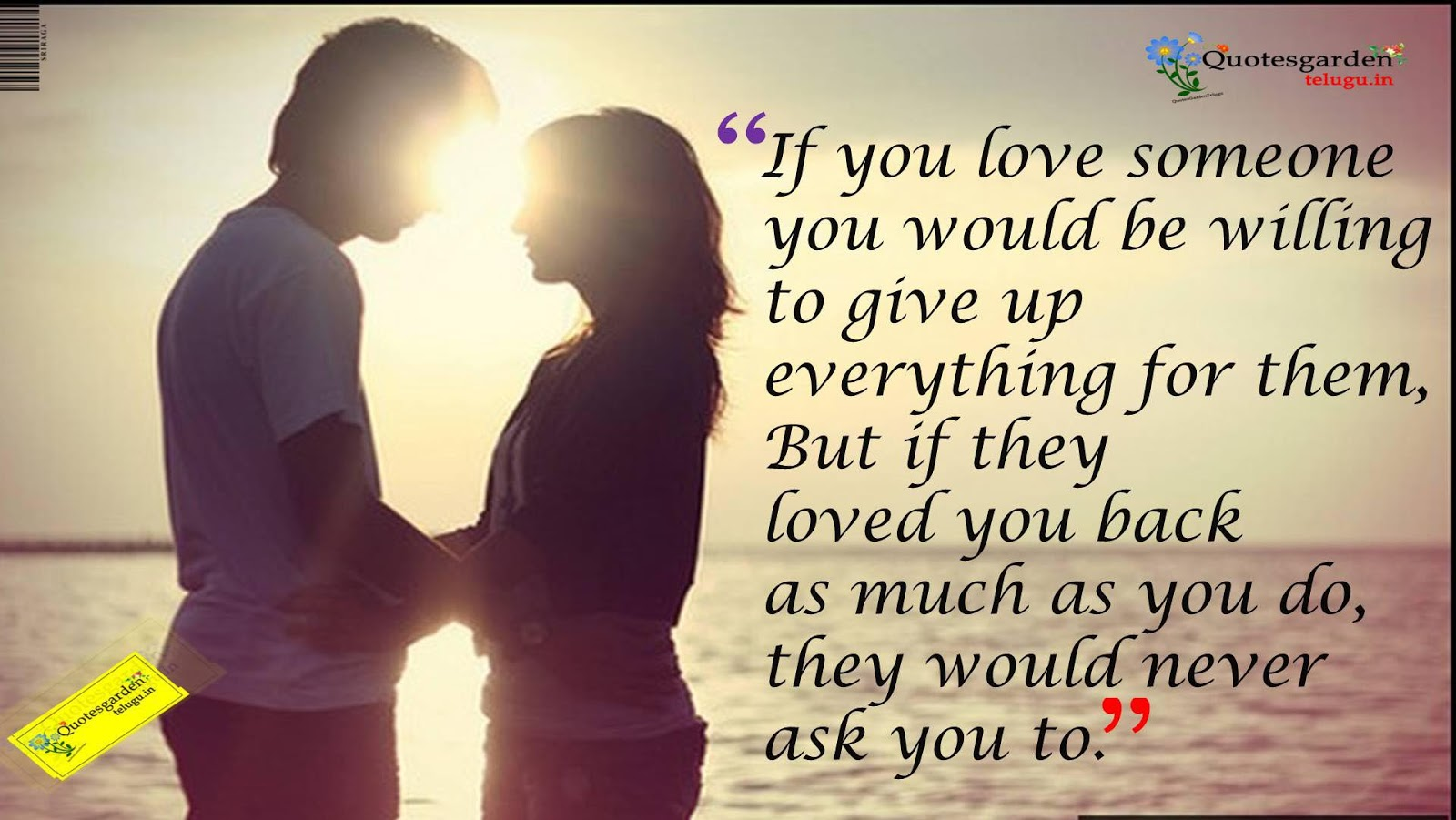 Love Wallpaper With Heart Touching Quotes : Best Heart touching love quotes with hd wallpapers 685 QUOTES GARDEN TELUGU Telugu Quotes ...