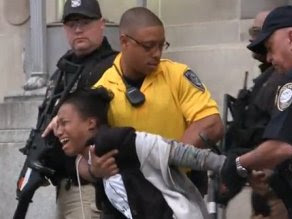 Peaceful Protester Tasered Outside DOJ While Demanding Wall Street Prosecutions
