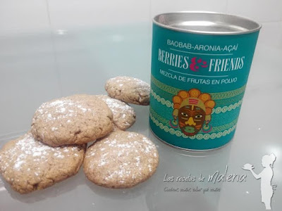 Galletas de mantequilla con mezcla de frutas en polvo de Berries & Friends