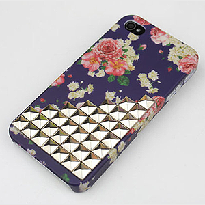 Floral Studded Phone Case
