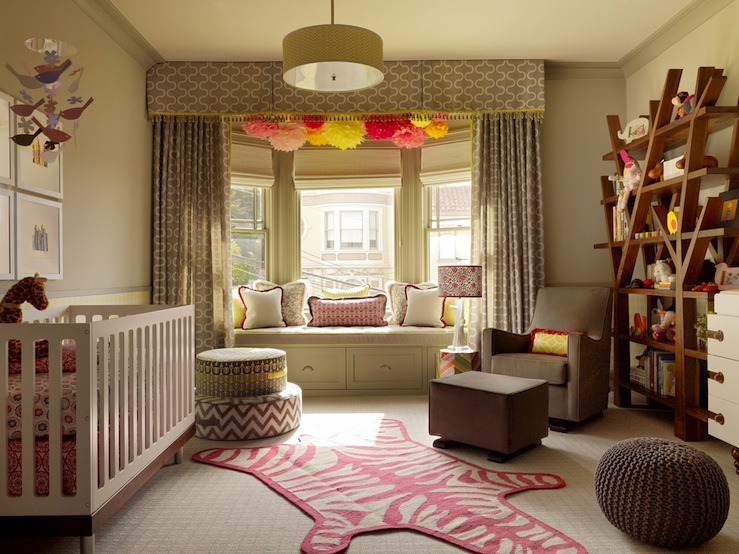 Custom Nursery Art by Kimberly: Modern Baby Girl Nursery Ideas