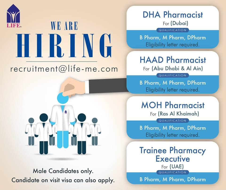 global pharma news  pharmacist vacancy in abroad  uae