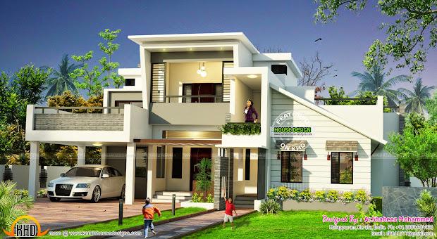 Modern Home Ar.shaheez Mohammed - Kerala Design