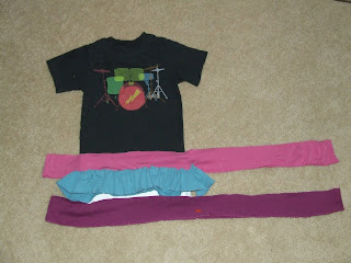 Refashion a boy's t-shirt into girl's dress