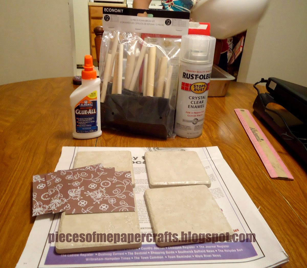 Pieces of me scrapbooking paper crafts tutorial diy ceramic tutorial diy ceramic tile coasters dailygadgetfo Images
