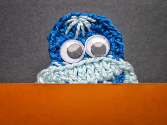 Marcalibros de crochet