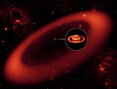 Anel invisível de Saturno é 500 vezes maior que o planeta