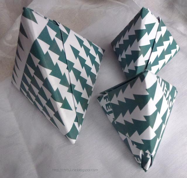 Origami Tetraeder-Geschenkschachteln