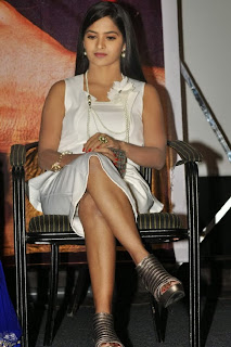 Actress Madhumitha Latest Pictures in White Dress at Biriyani Movie Audio Launch 0088