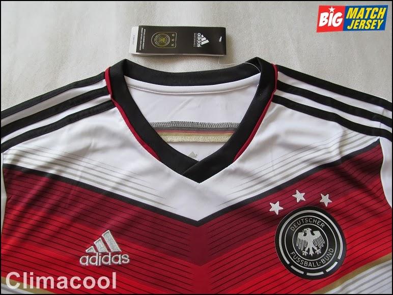 Tidak Ada Stiker di Dada Pada Jersey Jerman Home Climacool Official World Cup 2014
