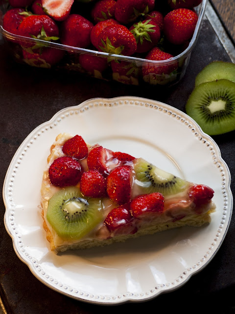 tarte briochée, tarte kiwis, tarte fraises, tarte aux fruits, meilleure tarte
