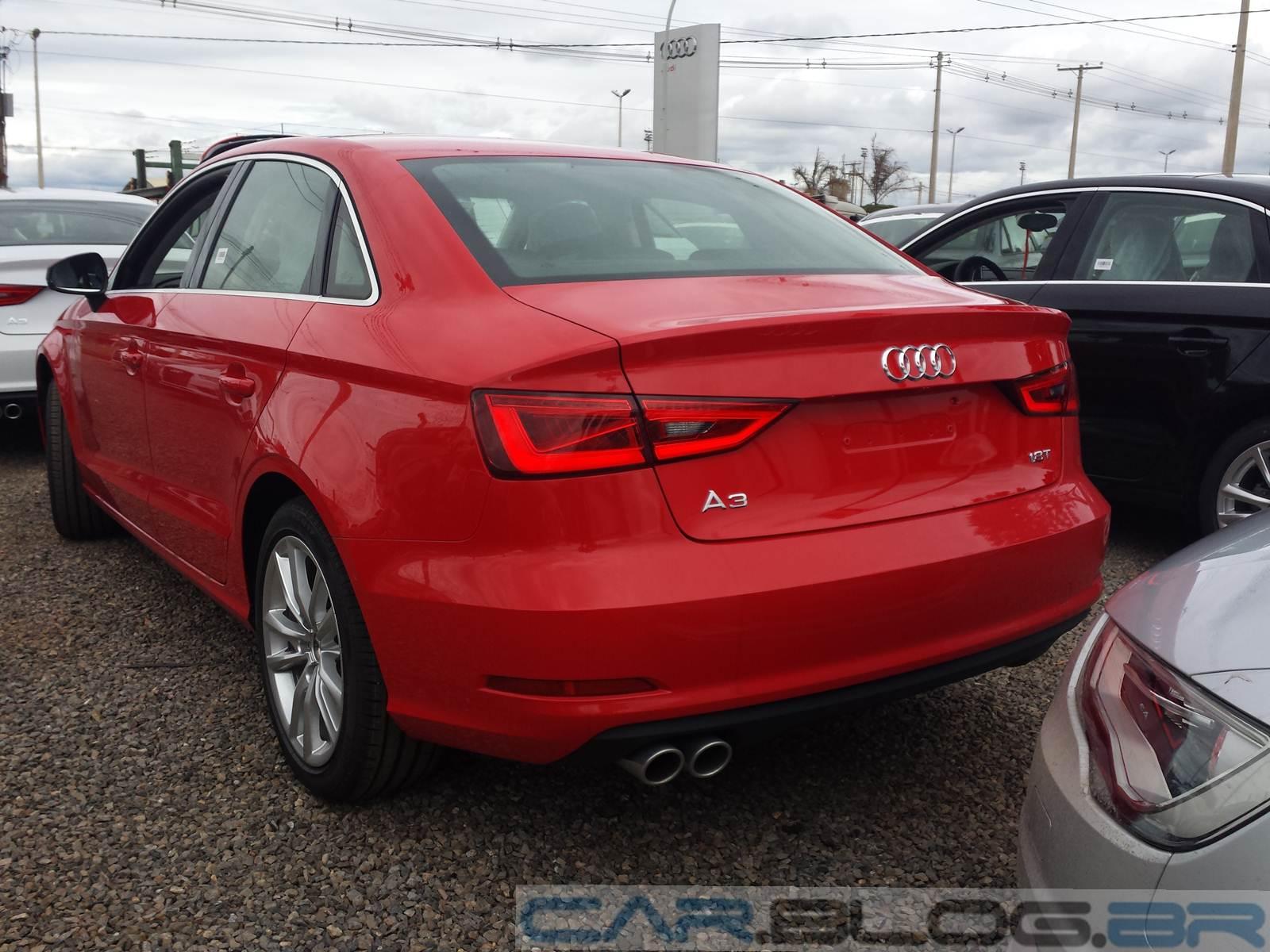 Novo Audi A3 Sedan 2014 vermelho