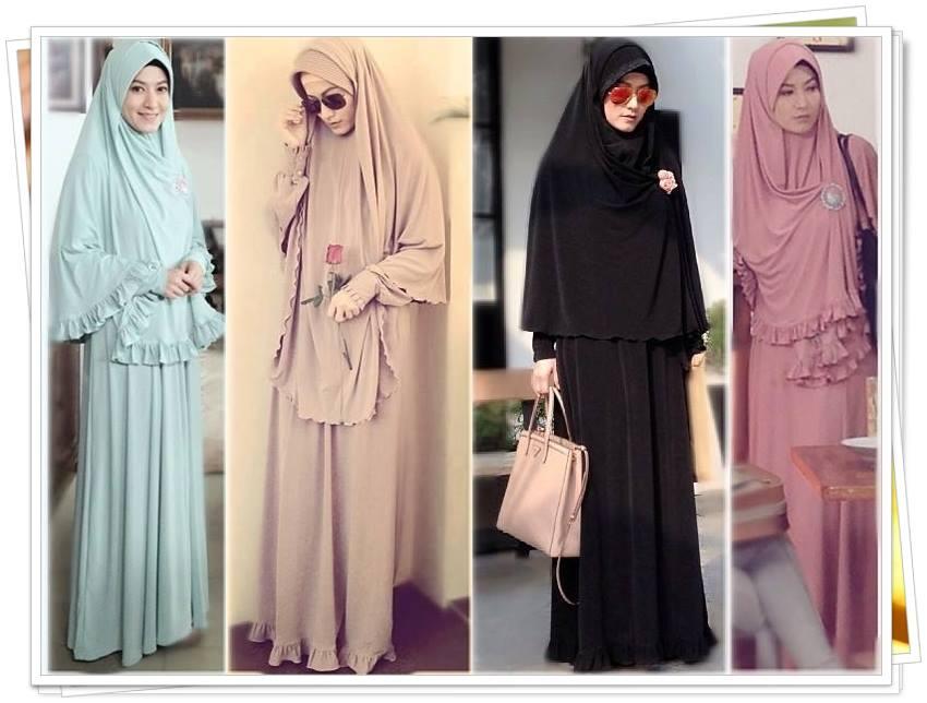 Gamis Dan Hijab Ala Lyra Virna Busana Muslim Murah
