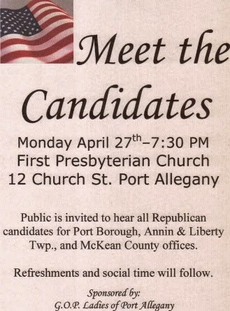 4-27 Meet The Candidates Port Allegany