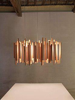 Luminária reutilize sobras de madeira