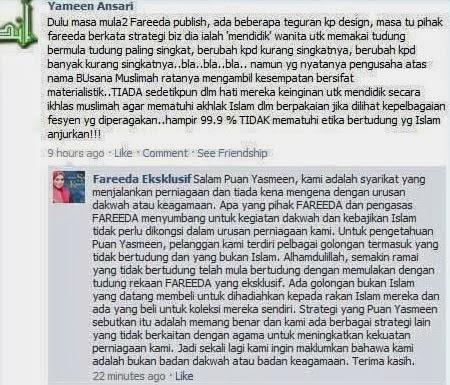 Tudung Fareeda Seksi, Mawar Balas Kritikan Peminat