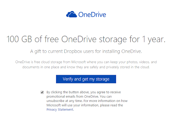 10GB of OneDrive for Dropbox users
