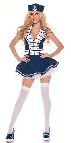 disfraz casero de marinera sexy para mujer
