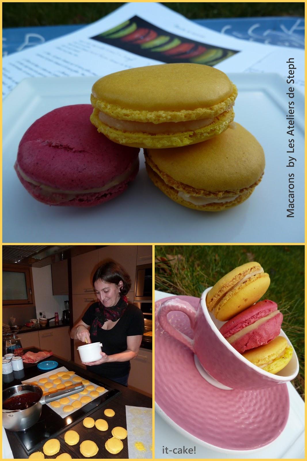 it cake cours de macarons by les ateliers de steph. Black Bedroom Furniture Sets. Home Design Ideas