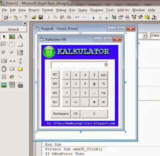 Program Kalkulator Dengan Visual Basic 6.0