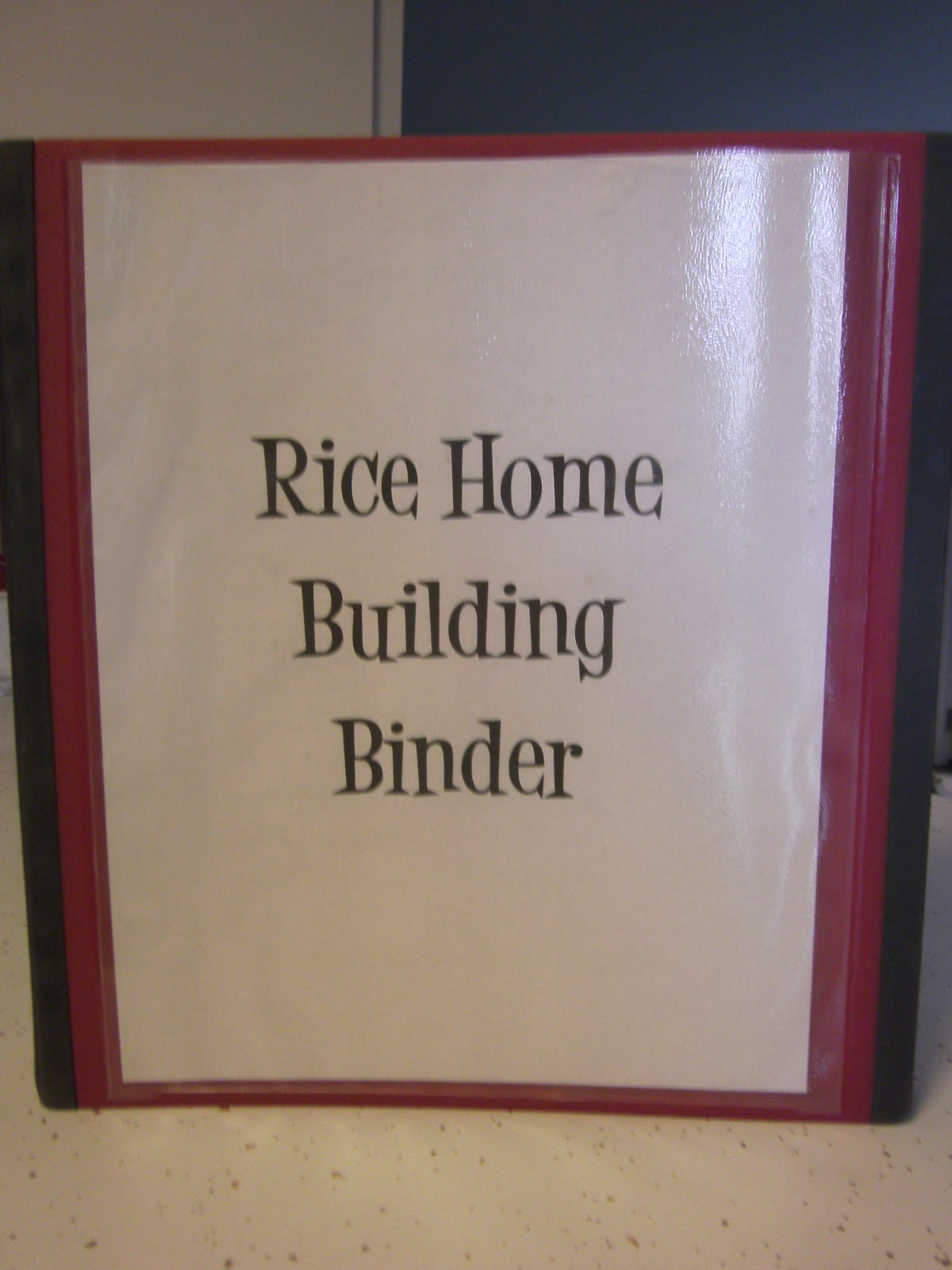 live on a mission home building binder