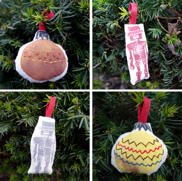 block print ornaments