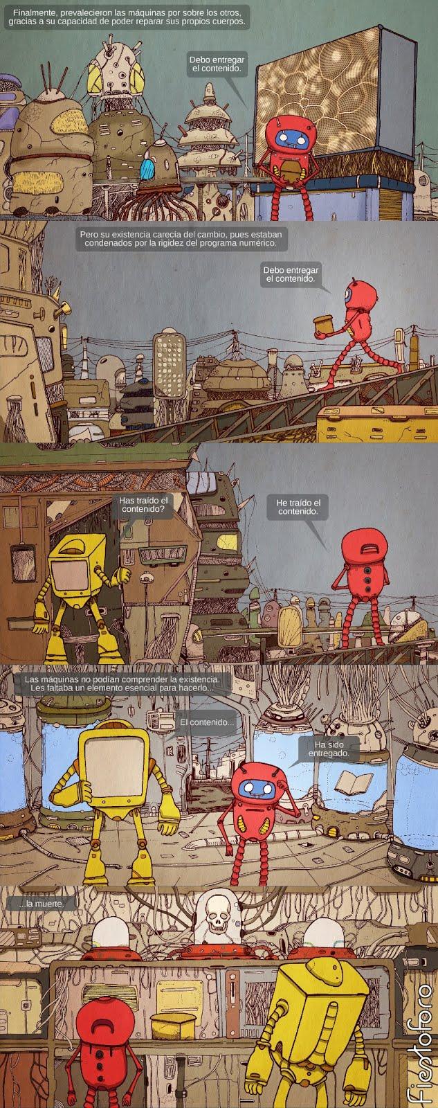 comic de un robot
