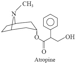 . Atropine  Synonyms Tropine tropate; dl-Hyoscyamine; dl-Tropyl Tropate; Tropic acid ester with Tropine
