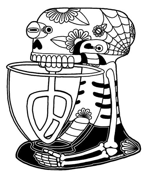 Sugar Skull Coloring Pages Printable Free