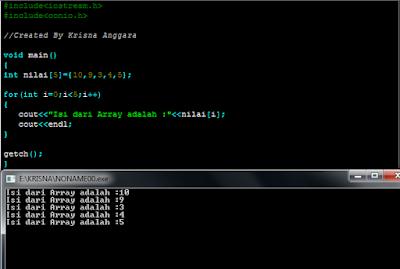 Array Pada C++