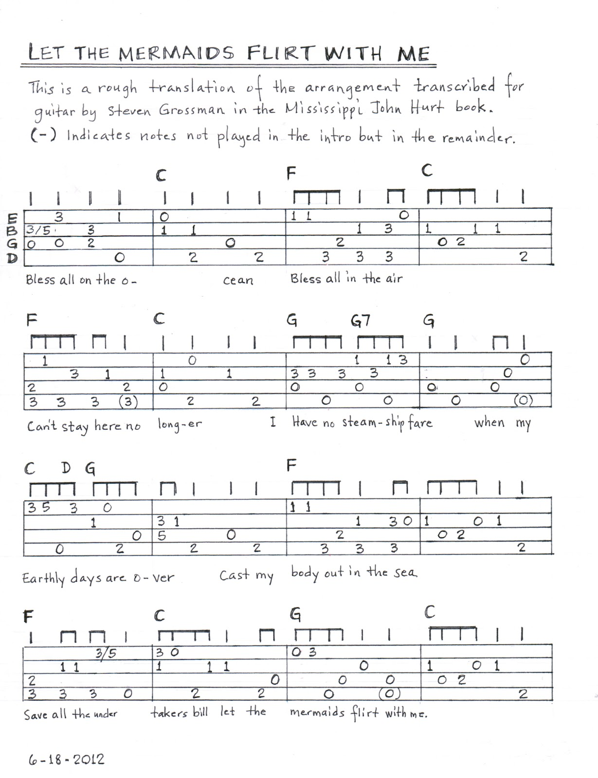Humble Baritonics Tab Mermaid Flirt