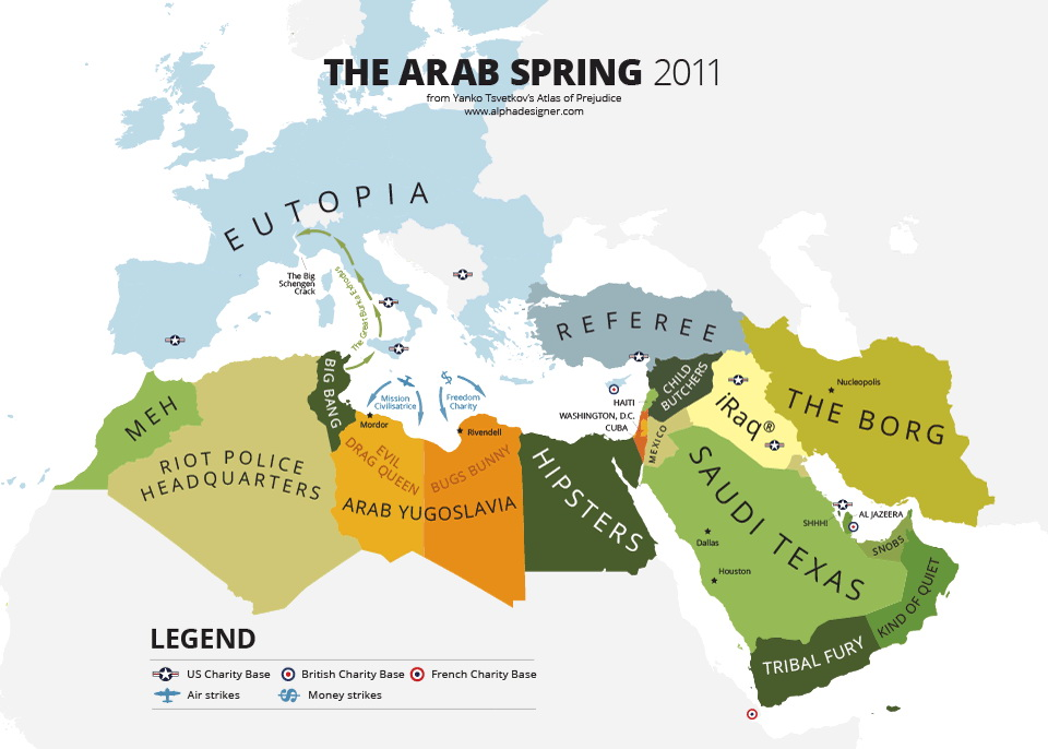 the arab spring and winter vivid maps